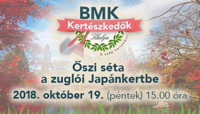 Őszi séta a Japánkertbe a BMK Kertészkedők Klubjával