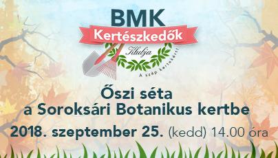 Őszi séta a Soroksári Botanikus kertbe a BMK Kertészkedők Klubjával